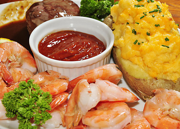 Mmm Steak N Shrimp With Twice Baked Potato Free Picture Puzzle All Star Puzzles